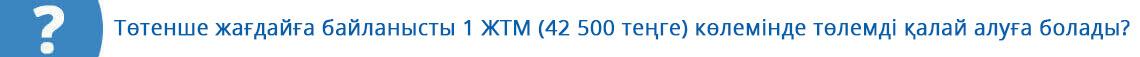 Как получить выплату в размере 1 МЗП (42 500 тенге) в связи с ЧП?
